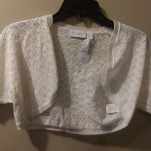 Pretty Girls Cream Sweater Shrug, size 14XL